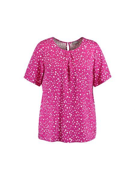 Różowa bluzka z wiskozy Samoon