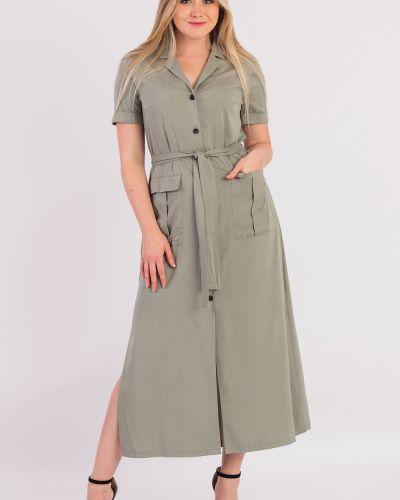 Платье с поясом на пуговицах с разрезами по бокам Lacywear
