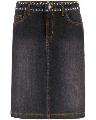 Джинсовая юбка черная Bonprix