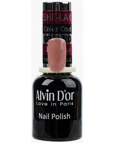 Розовый лак для ногтей Alvin D'or