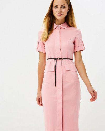 Розовое платье футляр Trendyangel