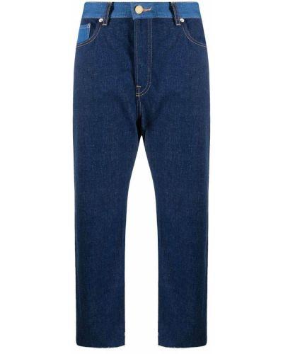 Синие укороченные джинсы с карманами с заплатками Scotch & Soda