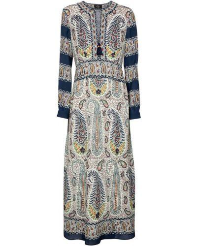 Платье макси - синее Etro