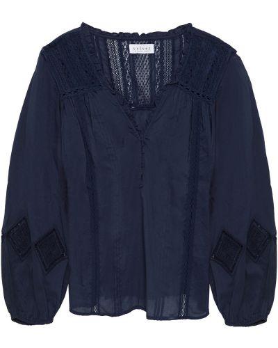 Bluzka z aksamitu Velvet By Graham & Spencer