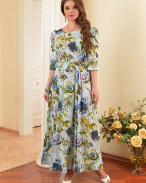 Вечернее платье летнее с цветочным принтом Salvi-s