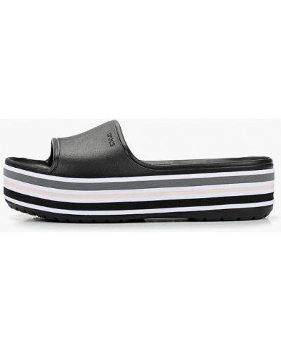 Сабо черные пляжные Crocs