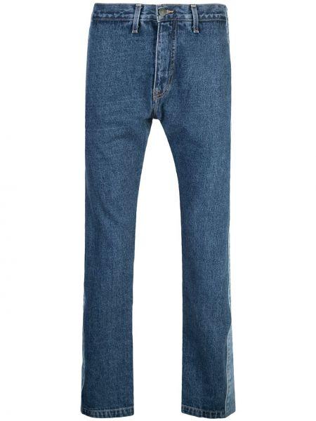 Niebieskie jeansy z wysokim stanem bawełniane Just Don