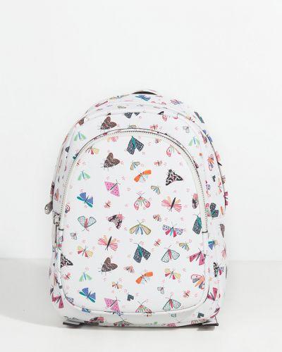 Кожаный рюкзак с подкладкой белый Parfois