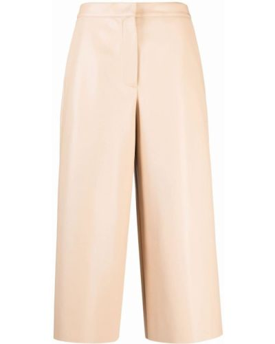 Бежевые укороченные брюки Semicouture