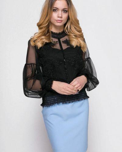 Черный вязаный юбочный костюм Zubrytskaya