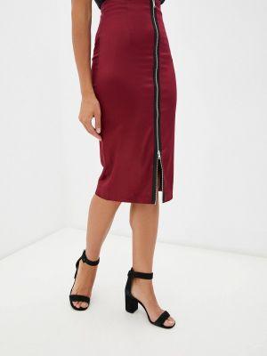 Бордовая юбка летняя Teratai