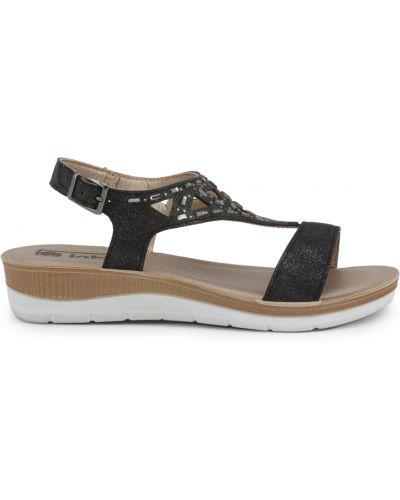 Sandały na platformie skorzane klamry Inblu