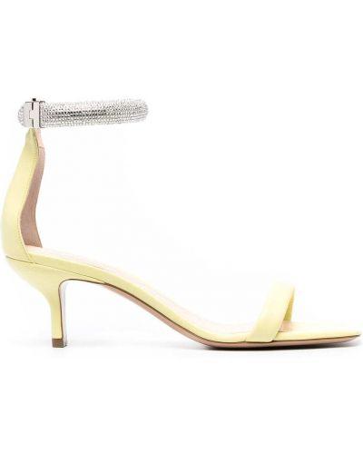 Żółte sandały skorzane peep toe Nicholas Kirkwood