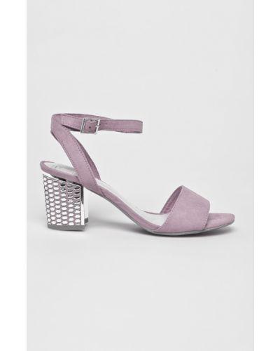 Туфли на каблуке сиреневый фиолетовый Marco Tozzi