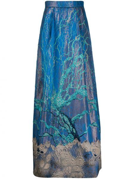 Плиссированная юбка с завышенной талией макси Alberta Ferretti