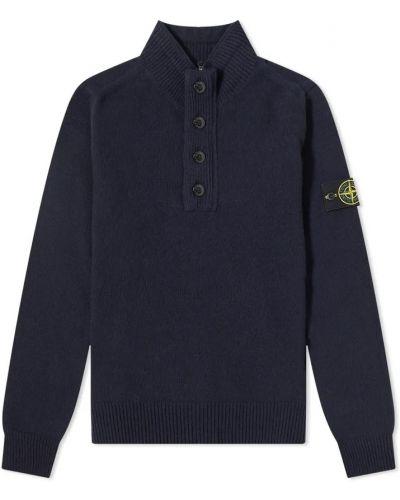 Sweter wełniany - czarny Stone Island