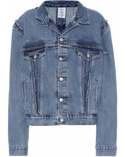 Джинсовая куртка бушлат синий Vetements