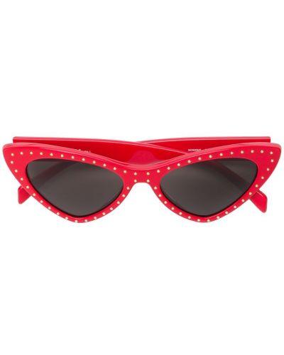 Солнцезащитные очки кошачий глаз красный Moschino Eyewear