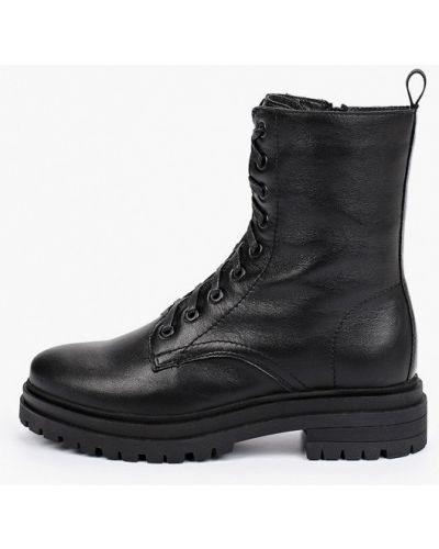 Черные высокие ботинки Francesco Donni