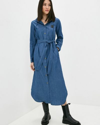 Прямое синее джинсовое платье Danmaralex