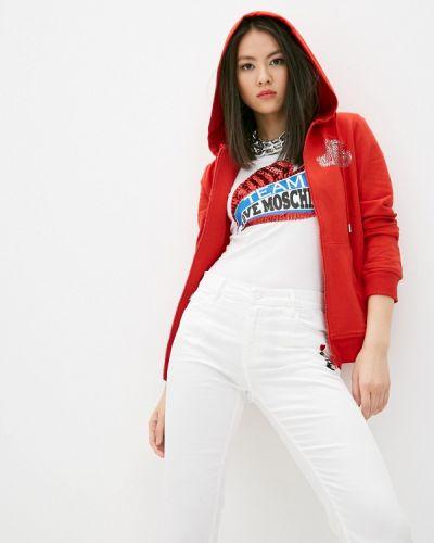 Красная толстовка Love Moschino
