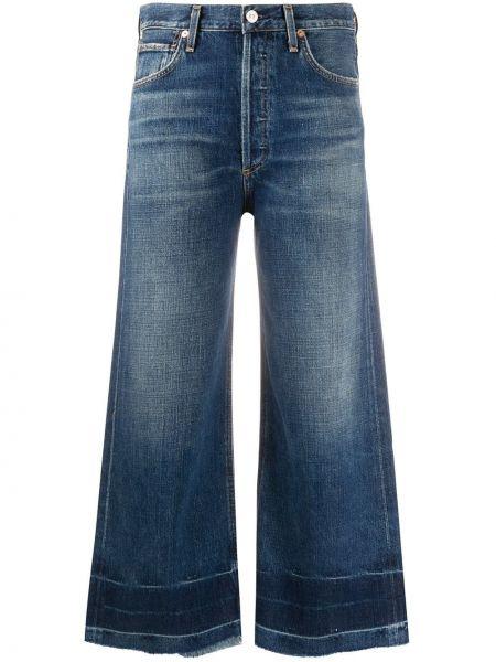 Укороченные джинсы свободные расклешенные Citizens Of Humanity