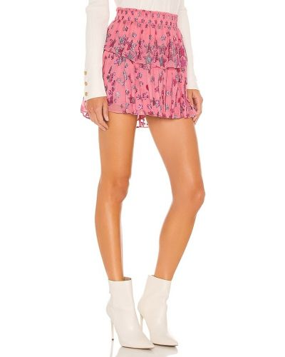 Bawełna różowy spódnica mini z haftem Loveshackfancy