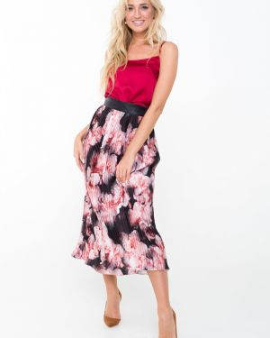 Шелковая юбка миди Leleya