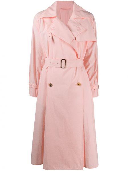 Длинное пальто с поясом двубортный с воротником Max Mara