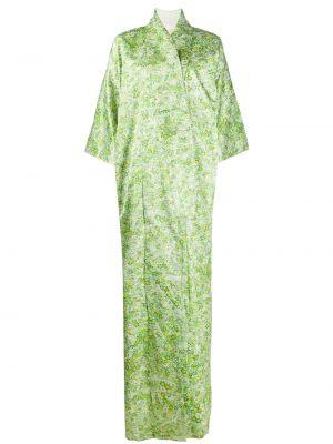 Зеленое с рукавами кимоно винтажное из вискозы A.n.g.e.l.o. Vintage Cult