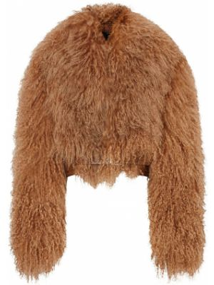 Кожаная куртка байкерская на кнопках Burberry