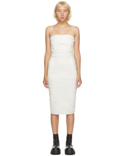 Bawełna asymetryczny sukienka z wiskozy z kieszeniami Rick Owens