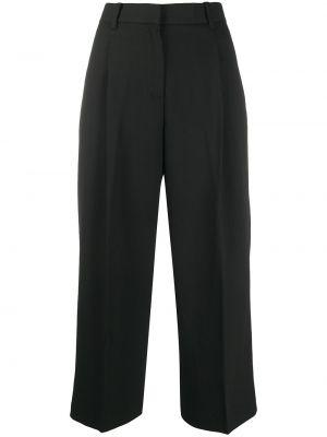 Bawełna bawełna czarny spodnie culotte z paskiem Michael Michael Kors