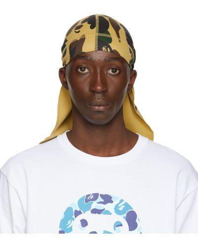 Белый трикотажный шарф Bape