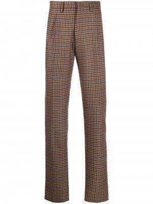 Brązowe spodnie z wiskozy Lardini