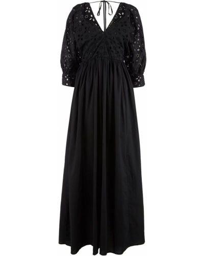Хлопковое черное платье Love Republic