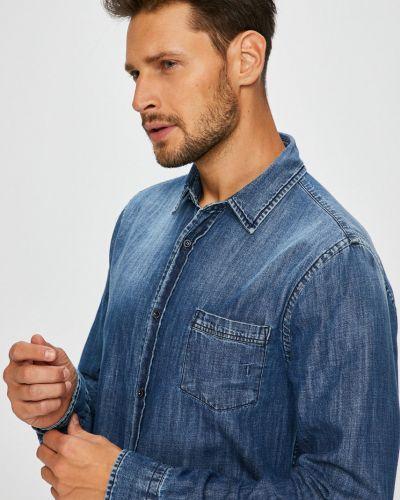 Джинсовая рубашка с длинным рукавом хлопковая Trussardi Jeans