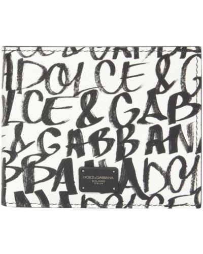 Portfel skórzany - biały Dolce And Gabbana