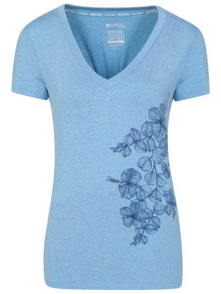 Niebieski top materiałowy z printem Mountain Warehouse