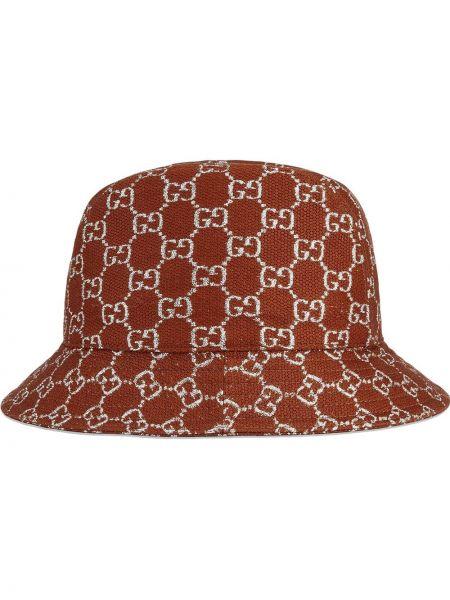 Wełniany brązowy kapelusz wąskie cięcie Gucci