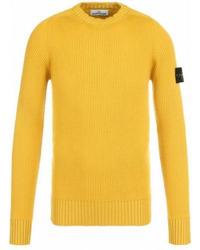 Желтый свитер шерстяной Stone Island