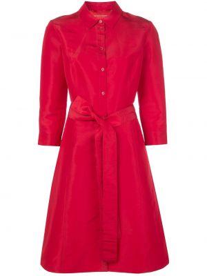 Sukienka midi rozkloszowana z jedwabiu Carolina Herrera