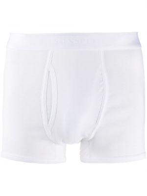 Хлопковые белые носки эластичные Sunspel
