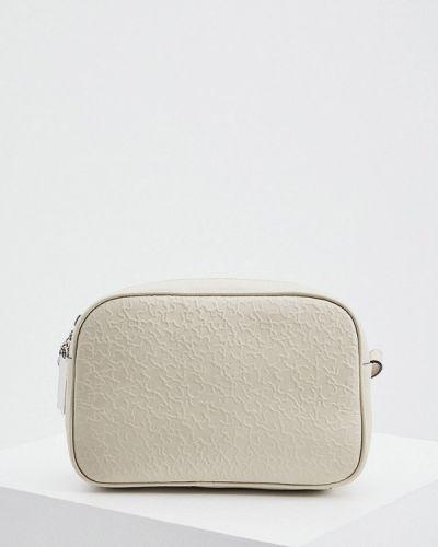 Бежевая сумка через плечо из натуральной кожи Tous