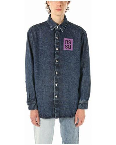 Niebieskie klasyczne jeansy Raf Simons