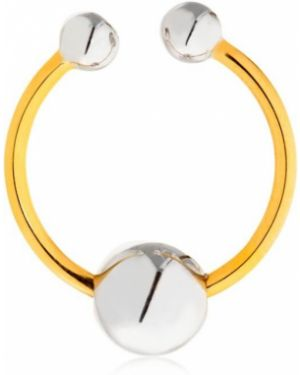 Żółty złoty pierścionek pozłacany Uribe