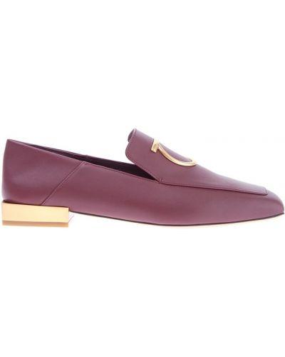 Лоферы на каблуке кожаные Salvatore Ferragamo