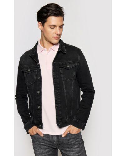 Czarna kurtka jeansowa Karl Lagerfeld