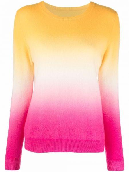 Кашемировый белый длинный свитер с длинными рукавами Chinti And Parker