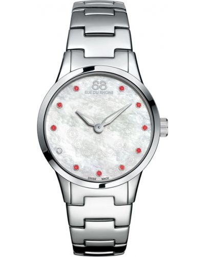 Водонепроницаемые часы кварцевые с камнями 88 Rue Du Rhone